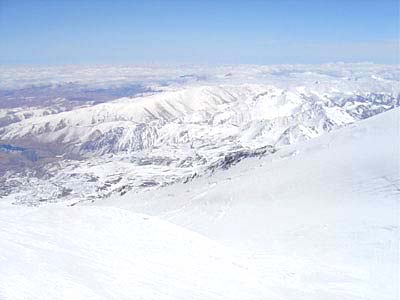 View from top of Elbrus to the North