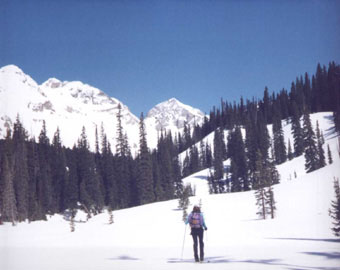 View2: mountains and skier