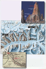 Maps and general view from